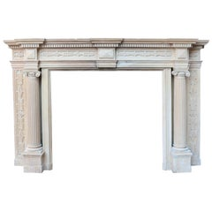 Georgian Style Edwardian Pine and Composition Fire Surround