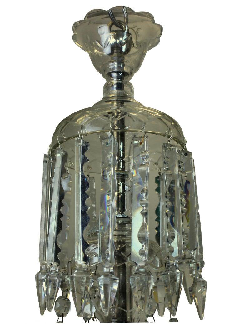 Mid-20th Century Georgian Style English Cut-Glass Chandelier
