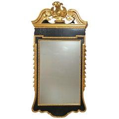 Georgian Style Gilded & Ebonized Beveled Mirror by Colonial Williamsburg