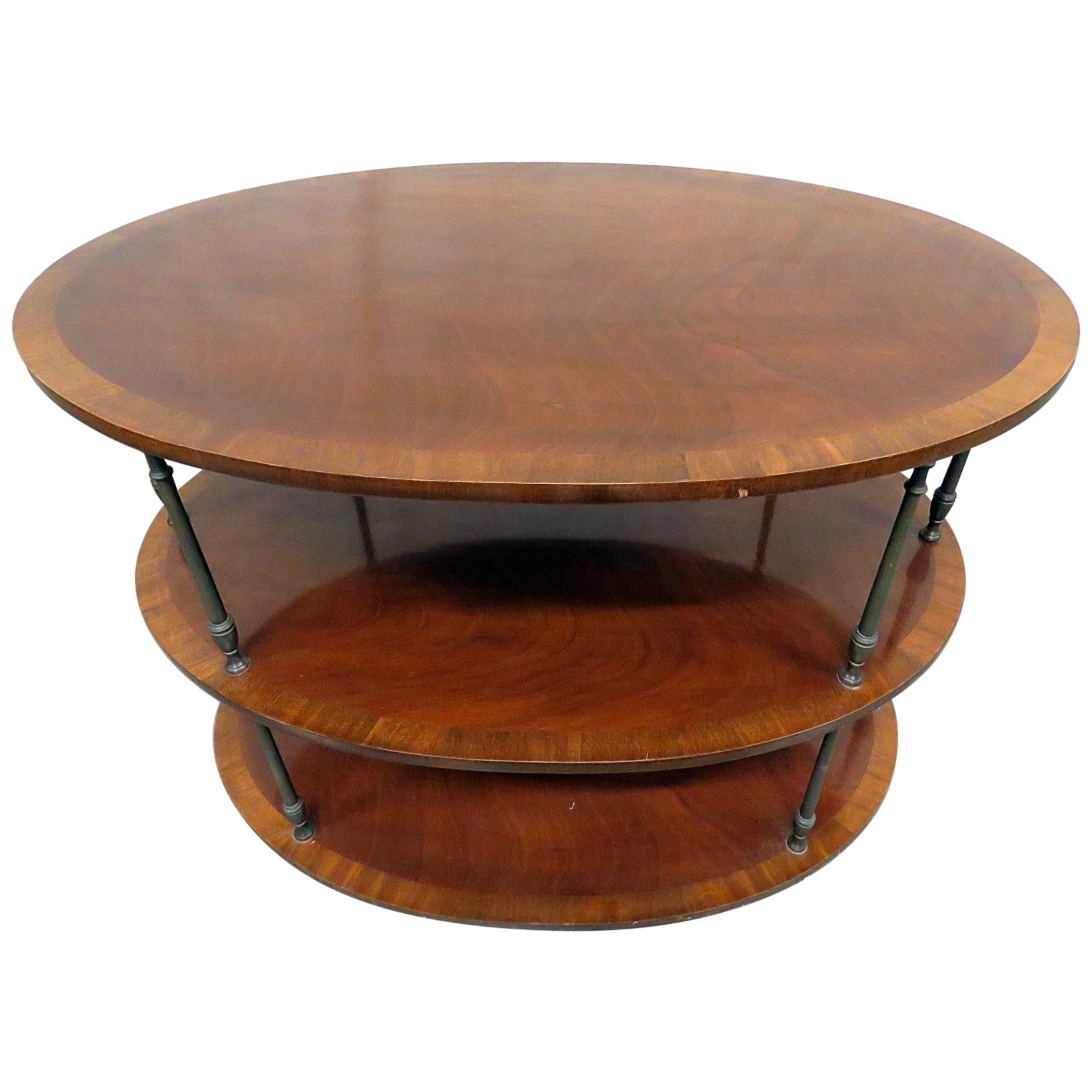 English Regency Style Satinwood and Mahogany Brass Inlaid Dessert Side Table