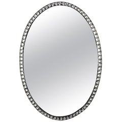 Georgian Style Irish Mirror with Rock Crystal Faceted Border