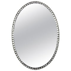 Georgian Style Irish Mirror with Rock Crystal Faceted Border