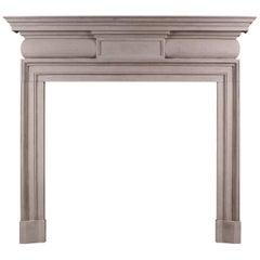 Georgian Style Limestone Fireplace
