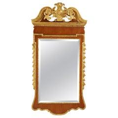 Georgian Style Mahogany and Giltwood Mirror