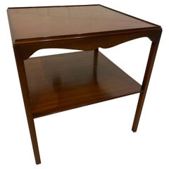 Georgian Style Side Table, Mahogany, English by Bevan Funnel, Two Tiers