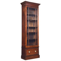 Georgian Style Tall Narrow Bookcase