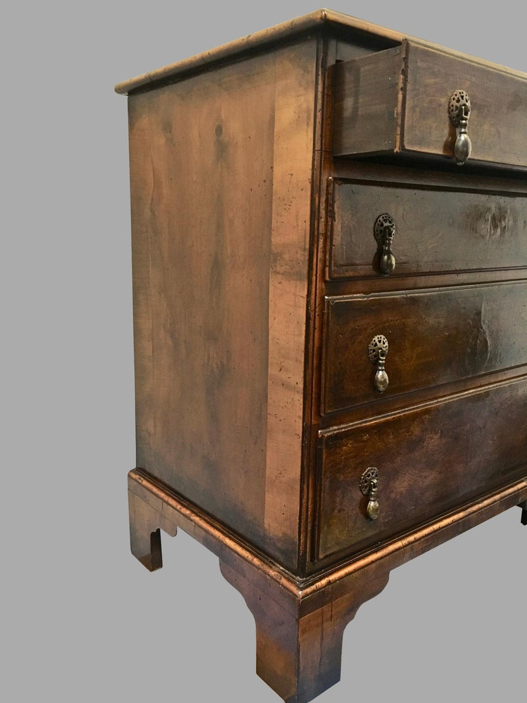 Georgian Style Walnut Bachelors' Chest of Small Size In Good Condition For Sale In San Francisco, CA