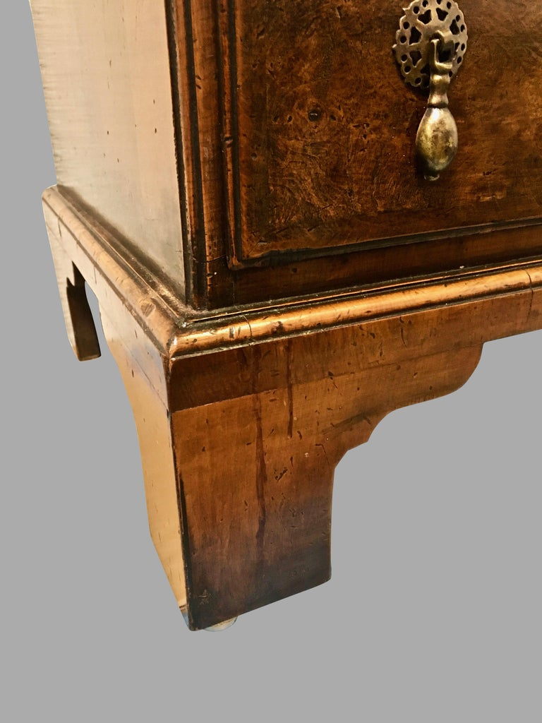 20th Century Georgian Style Walnut Bachelors' Chest of Small Size For Sale