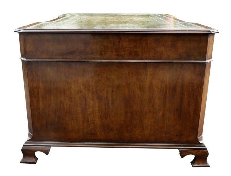 Georgian Style Walnut Partners Desk For Sale 4