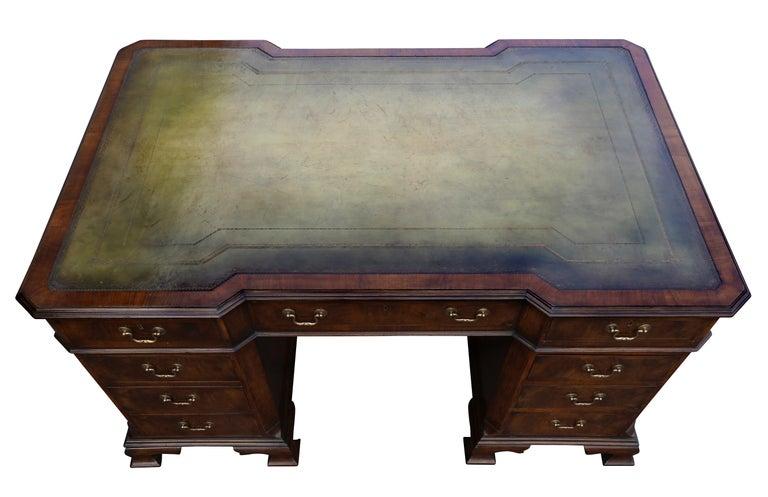 George II Georgian Style Walnut Partners Desk For Sale