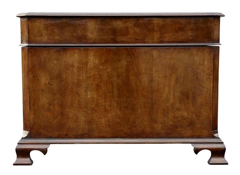 Georgian Style Walnut Partners Desk For Sale 3