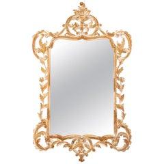 Georgian Style Wood Mirror, Italy, circa 1970