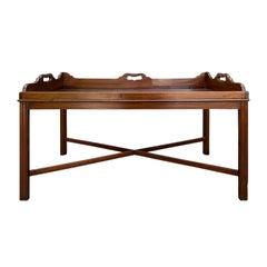 Georgian Style Wood Tray Coffee Table, circa 1830-1840s