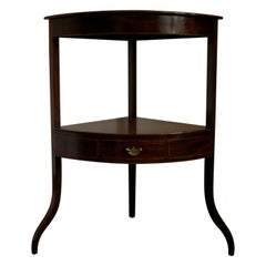 Georgian, Table, Corner Table, Mahogany, England, Regency, Side Table Decorative