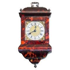 Georgian Tortoiseshell Travel Clock, circa 1780