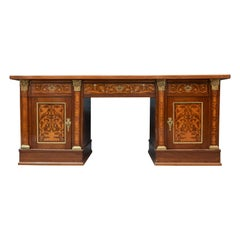 Georgian Twin Pedestal Library Desk
