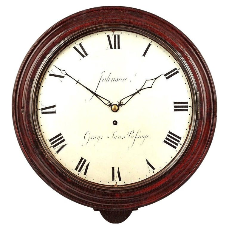 Georgian Wall Clock by John Johnson, London
