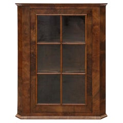 Georgian Walnut Glazed Corner Cupboard