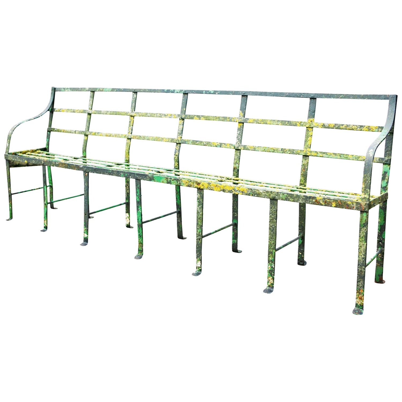 Admirable Georgian Wrought Iron Strap Work Garden Bench Alphanode Cool Chair Designs And Ideas Alphanodeonline