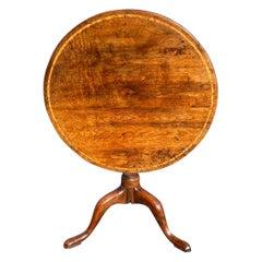 Georgian Yew Wood Circular Tripod Table