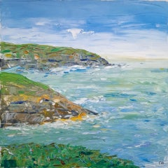 Pedn Vounder Coastal Path View, Georgie Dowling, Original Oil Painting