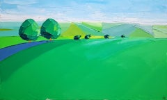 Georgie Dowling, Two Trees in the Cotswolds II, Original Cotswold Landscape Art