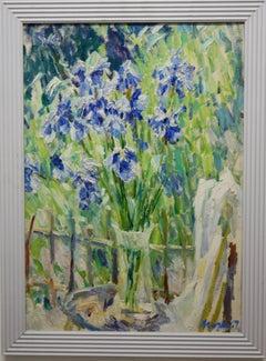 """ Purple Iris""    Oil  cm. 49 x 69"