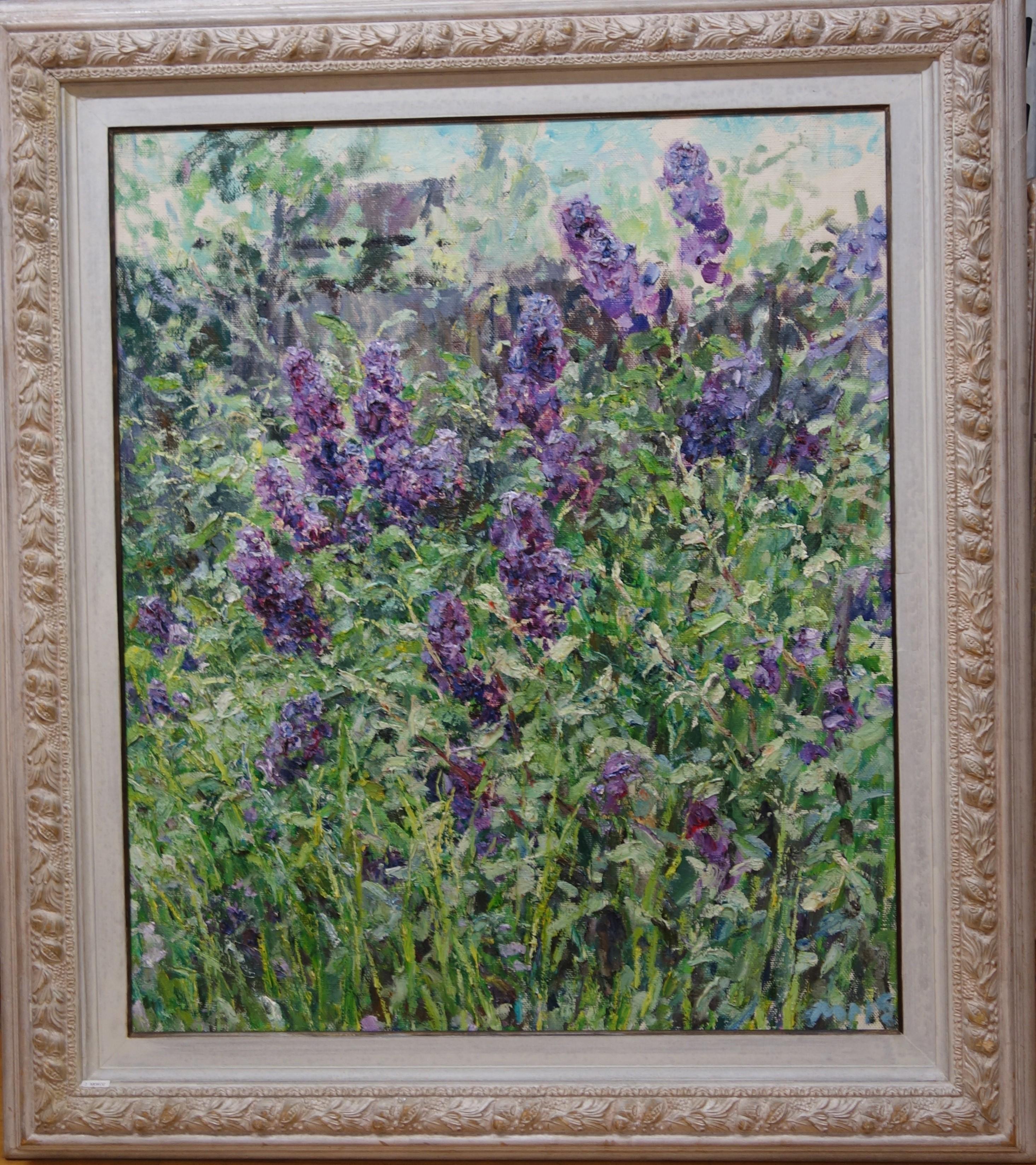 """Lilac "" Flowers,Lilac cm. 76 x 90 oil"