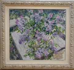 """""""Lilac in the light"""" Flowers,Lilac cm. 71 x 65 oil"""