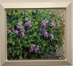 """""""Lilac"""" Violet, Flowers Oil cm. 60 x 70 1998 Shipping free"""