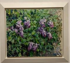 """""""Lilac"""" Violet, Flowers Oil cm. 60 x 70 1998"""
