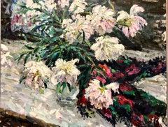 """""""Peonies"""" Oil cm 89 x 71"""