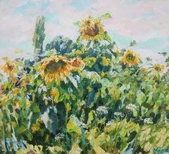 """Sunflowers"" Oil cm. 99 x 90"