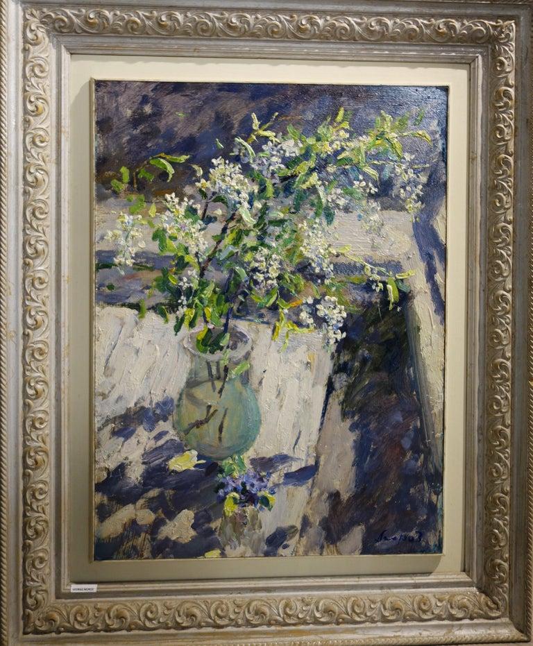 "Georgij Moroz Still-Life Painting - ""Wild cherry""   Oil  cm. 51 x 59 1996"