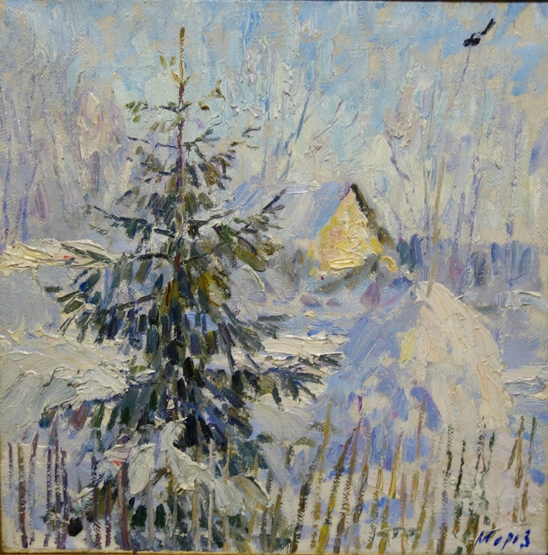 White,Snow ,Wood, Winter,Forest,Mountain,Russia  Published in a monographic catalogue  Georgij MOROZ (Dneprodzerzinsk, Ucraina, 1937 - St. Petersburg, 2015)  1937: he was born in Dneprodzerzinsk, Ucraina. 1949-56: he began artistic studies in