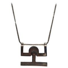 Georgio Gucci Silver Pendant Necklace, 1970s