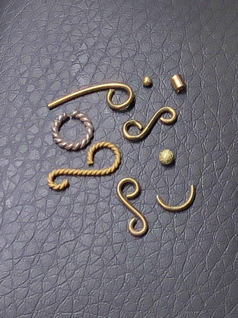 Men's Georgios Collections 18 Karat White Gold Black Rhodium Byzantine Style Cufflink For Sale