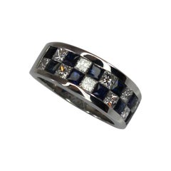 Georgios Collections 18 Karat White Gold Diamond and Sapphire Ring