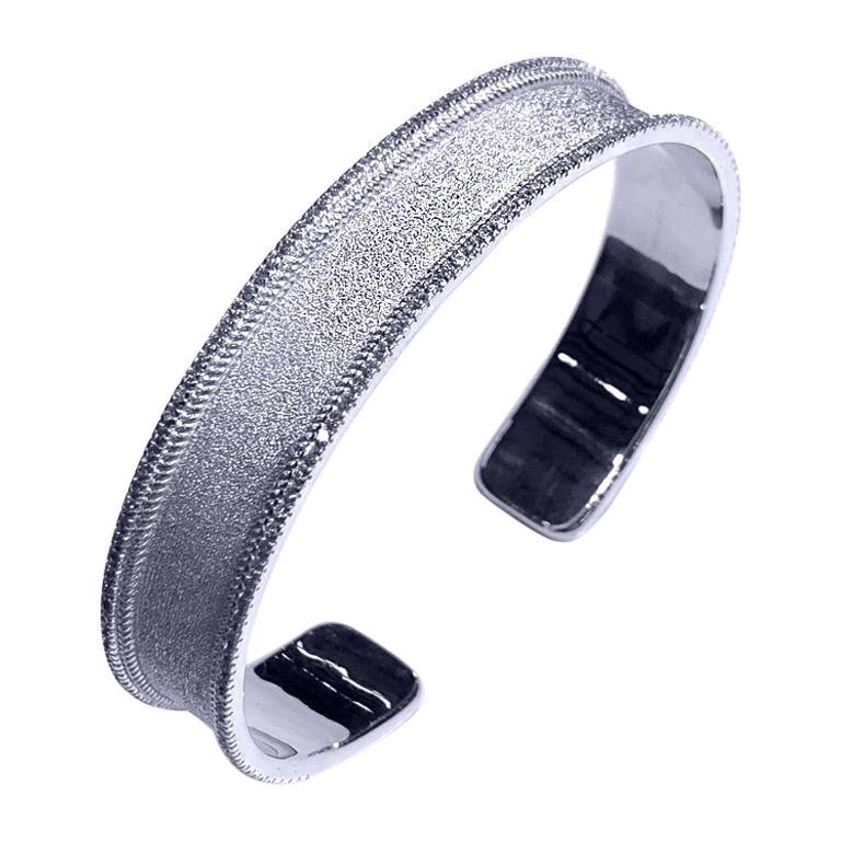 Georgios Collections 18 Karat White Gold Diamond Bangle Bracelet