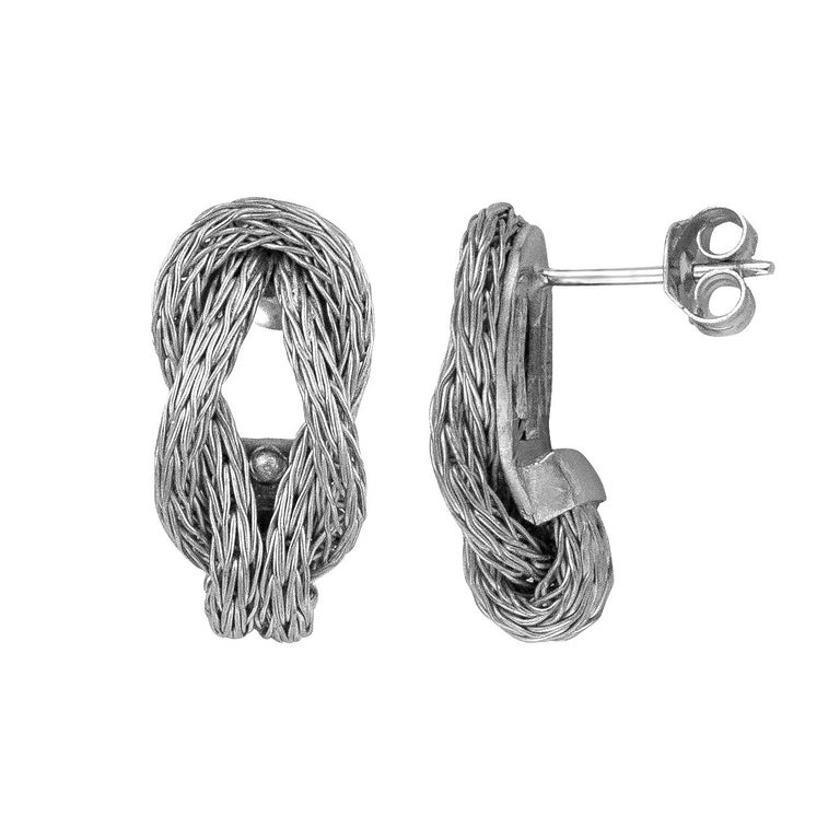 Georgios Collections 18 Karat White Gold Rope Necklace with Hercules Knot For Sale 1