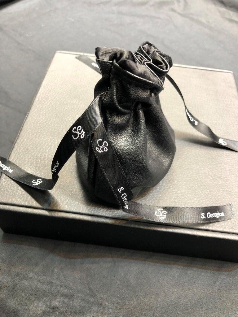 Georgios Collections 18 Karat Gold Two Tone Diamond Bangle Bracelet with Rhodium For Sale 9