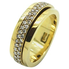 Georgios Collections 18 Karat Yellow Gold Eternity Spinning Diamond Band Ring