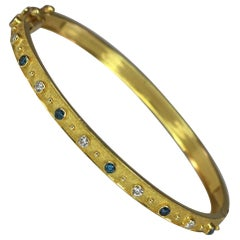Georgios Collections 18 Karat Yellow Gold Reversible Diamond Bracelet
