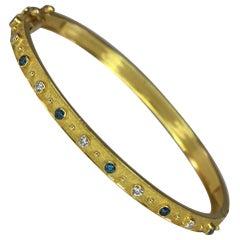 Georgios Collections 18 Karat Yellow Gold Rhodium Reversible Diamond Bracelet