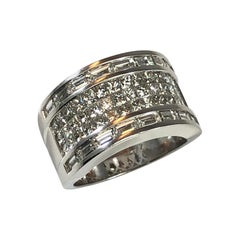 Georgios Collections Wide Diamond Ring in 18 Karat White Gold