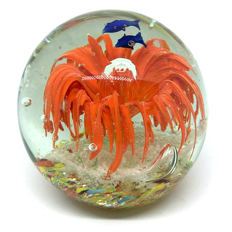 Gorgeous Fish Sea Reef Murano Italian Art Glass Aquarium Paperweight In Good Condition For Sale In Nürnberg, DE