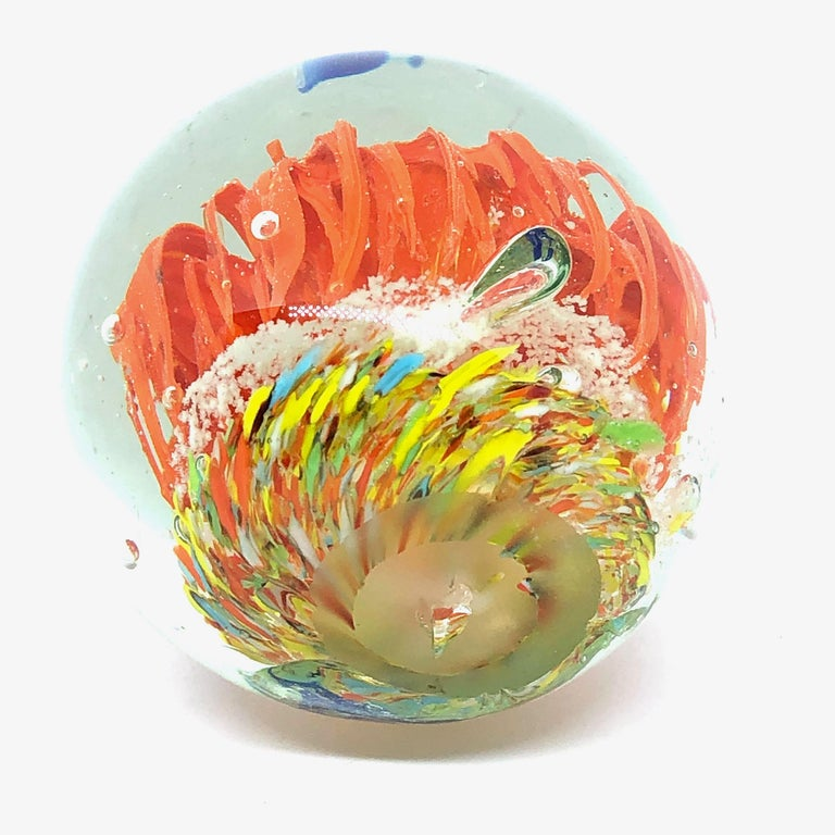 Murano Glass Gorgeous Fish Sea Reef Murano Italian Art Glass Aquarium Paperweight For Sale