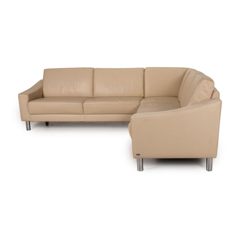 Gepade Leather Sofa Cream Corner Sofa Couch For Sale 4