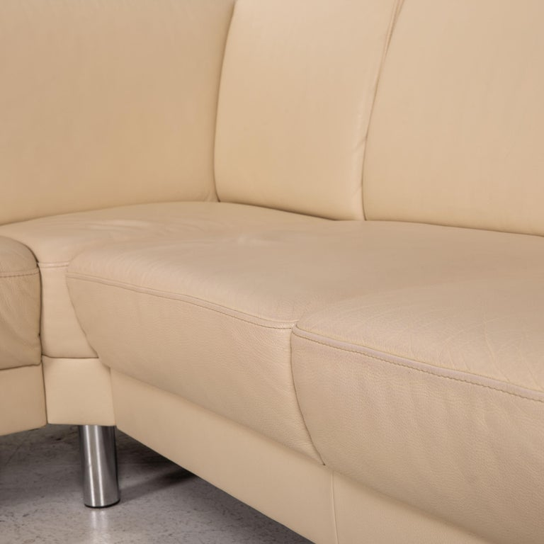 Gepade Leather Sofa Cream Corner Sofa Couch For Sale 1