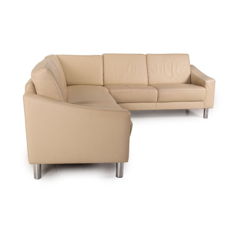 Gepade Leather Sofa Cream Corner Sofa Couch For Sale 2
